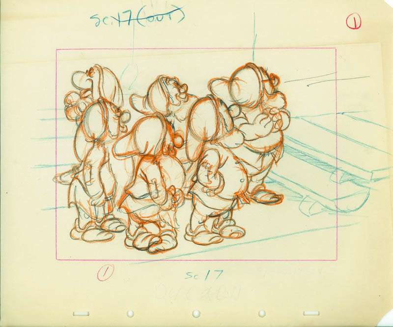 #003 LAYOUT DRAWING of THE DWARFS AT STAIRS Image