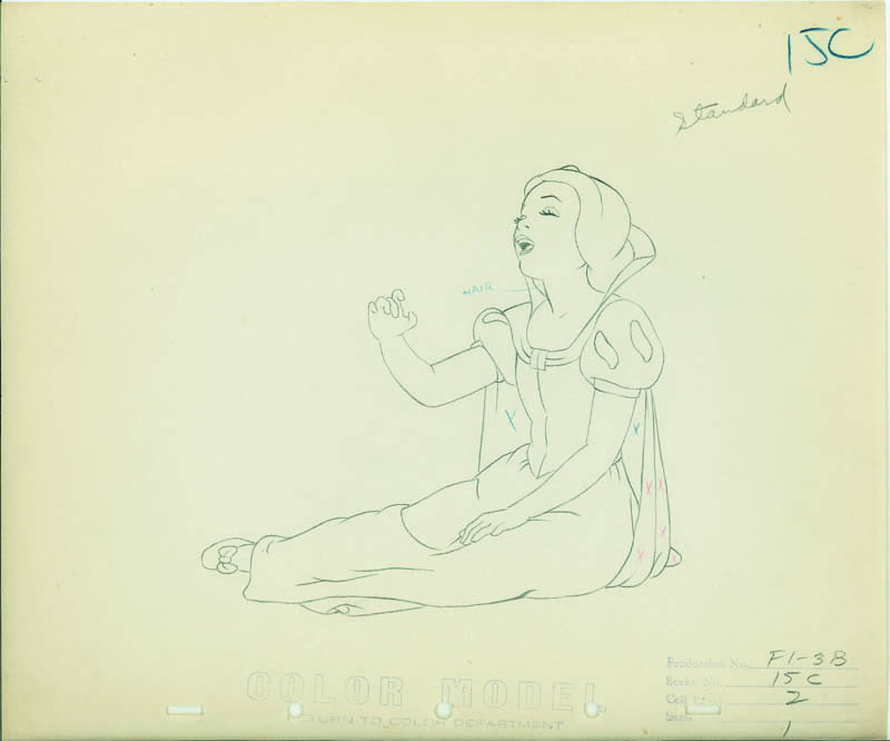 #009 COLOR MODEL DRAWING of SNOW WHITE SINGING Image