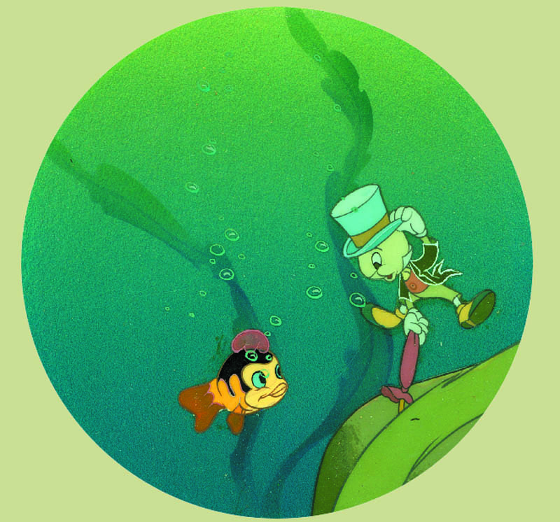 #021 JIMINY CRICKET AND BABY FISH COURVOISIER SET-UP Image