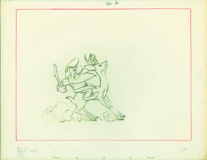 #006 LAYOUT SKETCH OF GRUMPY ON STAG Image