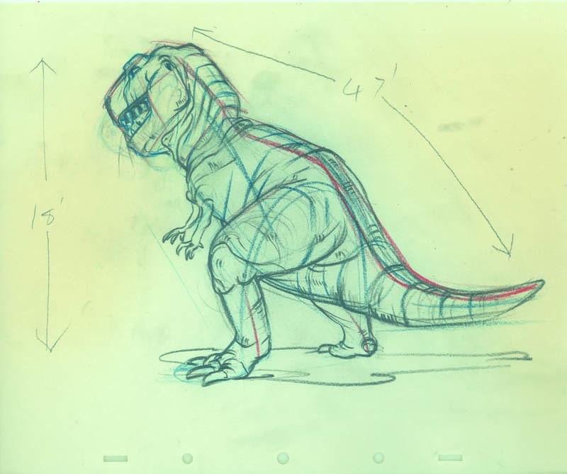 #025 CHARACTER DRAWINGS(4) of DINOSAURS Image