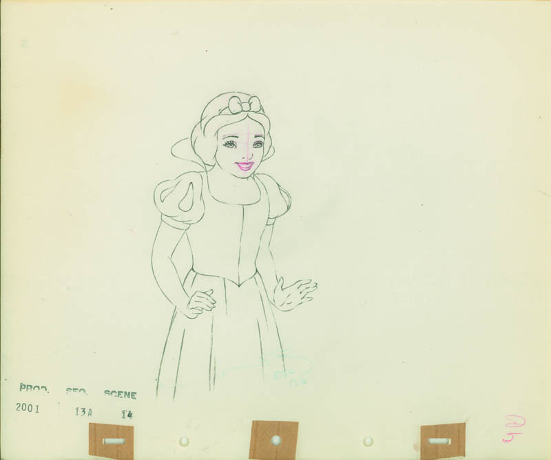 #015 ANIMATION DRAWING of SNOW WHITE Image