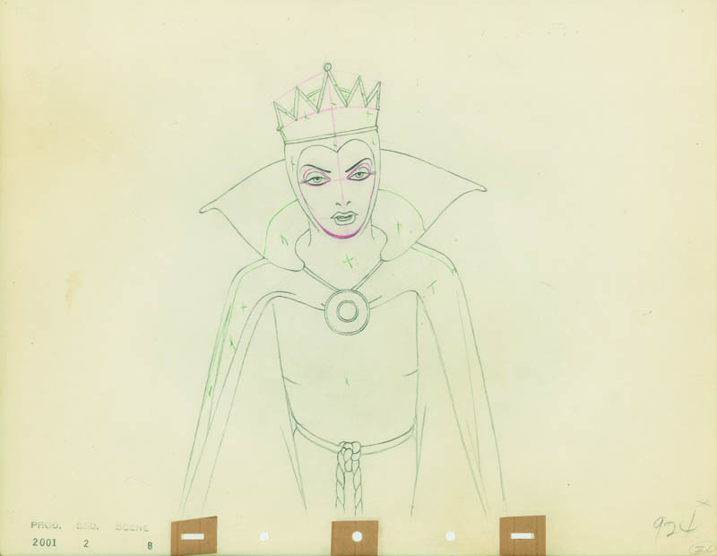 #017 ANIMATION DRAWING of THE QUEEN Image