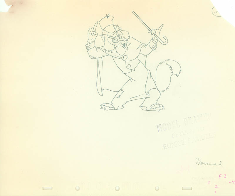 #018 COLOR MODEL DRAWINGS (2) of PINOCCHIO AND FOULFELLOW Image