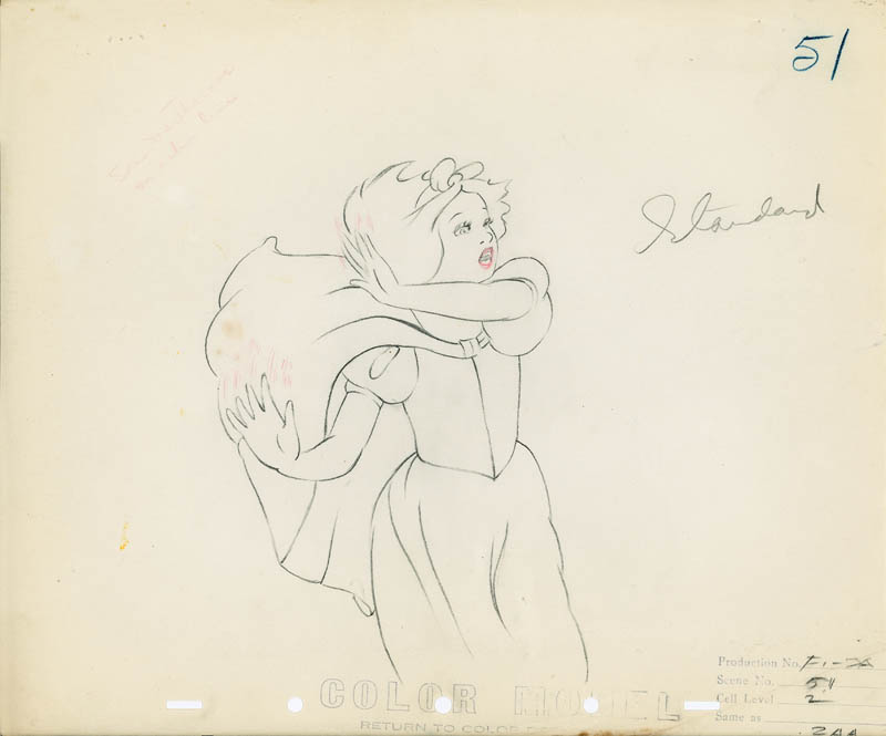 #005 COLOR MODEL DRAWING of SNOW WHITE FLEEING Image