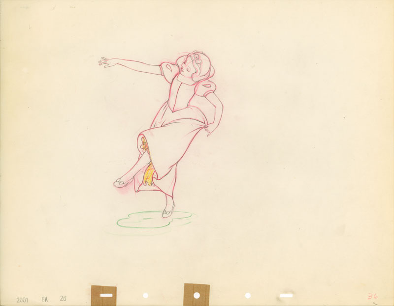#007 ANIMATION DRAWING of SNOW WHITE DANCING Image