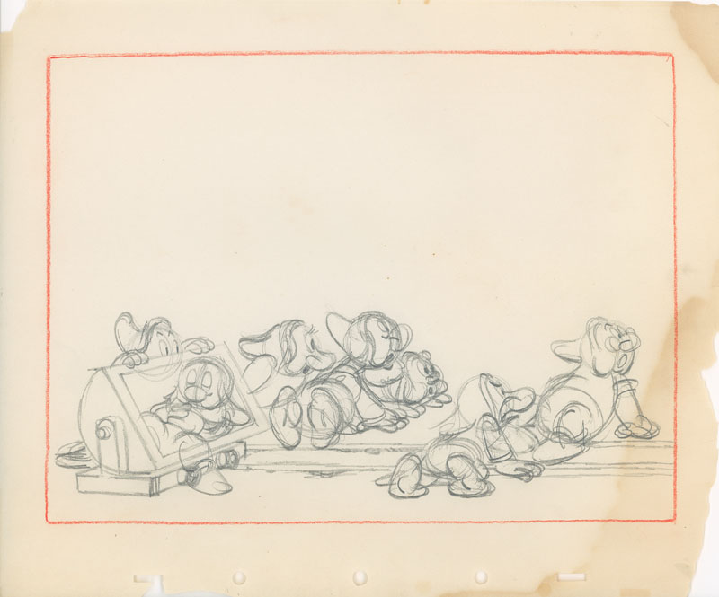#017 LAYOUT DRAWING of ALL SEVEN DWARFS Image