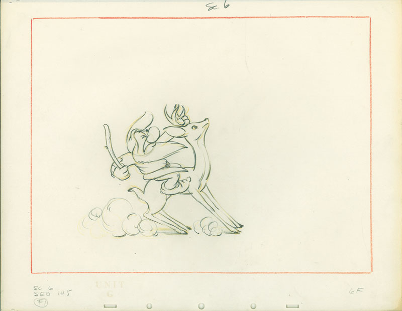 #019 LAYOUT DRAWING of GRUMPY ON STAG Image