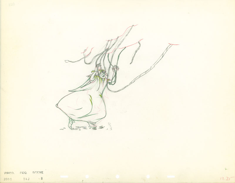 #021 ANIMATION DRAWING of THE WITCH Image